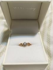 【MILK&Strawberry(ミルクアンドストロベリー)の口コミ】 彼と一緒にお店に行き、購入しました。指輪のデザインがとても気に入ったの…