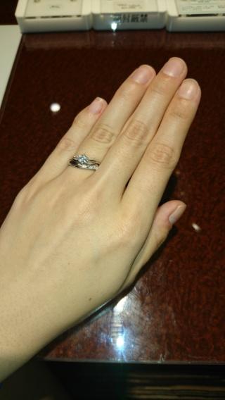 【JEWELRY  KAMATA(ジュエリーかまた)の口コミ】 フルオーダーメイドで作っても婚約指輪と結婚指輪を合わせられるとアドバイ…
