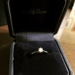【銀座ダイヤモンドシライシの口コミ】 可愛らしい指輪というよりは、クールで綺麗めな指輪がいいなと思っていた…