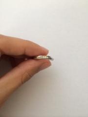 【ケイウノ ブライダル(K.UNO BRIDAL)の口コミ】 プラチナ一色の指輪が嫌で、プラチナと金が入っている指輪。 ストレートで…
