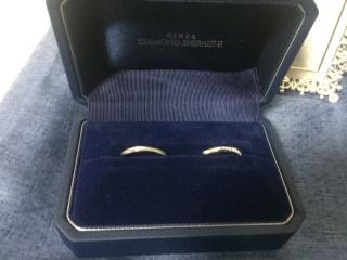【銀座ダイヤモンドシライシの口コミ】 お店の対応もものすごく良くて 2つの指輪を重ねると繋がると 言うことも…