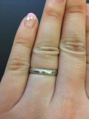 【エクセルコダイヤモンド(EXELCO DIAMOND)の口コミ】 私はミニチュアールというレースをモチーフにしたデザインの指輪が可愛く…