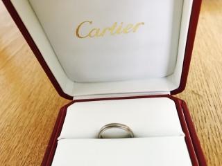 【カルティエ(Cartier)の口コミ】 結婚指輪は家事の邪魔にならないよう、石のついていないとにかくシンプル…