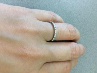 【TASAKI(タサキ)の口コミ】 ハーフエタニティでさがしていました。婚約指輪もTASAKIさんのものを…