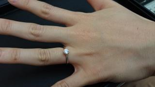 """【カオキ ダイヤモンド専門卸直営店 の口コミ】 ダイヤモンドの質。指輪の出来上がり。価格。 祝い事なので""""…"""