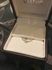 【Dolfani(ドルファーニ )の口コミ】 キラキラしたデザインが好きなので、メレダイヤがハーフエタニティのように…