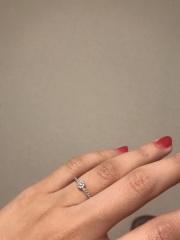 【agete(アガット)の口コミ】 アガットのお姉さんブランド「ベルシオラ」のリングです。 アガットでも購…