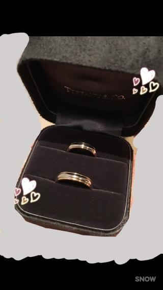 【ティファニー(Tiffany & Co.)の口コミ】 結婚指輪はティファニー!とずっと決めていたため、他のブランドは見ずに、…