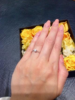 【LUCIE(ルシエ)の口コミ】 婚約指輪をもらえるなら、王道のデザインがいいなとなんとなく思ってました…