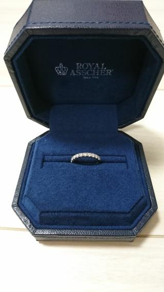 【ROYAL ASSCHER(ロイヤル・アッシャー)の口コミ】 婚約指輪は頂かずに、結婚指輪のみでお願いをしたのですが、結婚指輪でも…