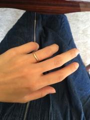 【カルティエ(Cartier)の口コミ】 私は華奢(細め)でピンクゴールドのリングが希望でした。夫はこだわりはあ…