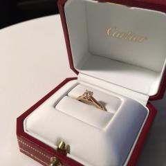 【カルティエ(Cartier)の口コミ】 彼との婚約を控え、こだわりが強い私の性格を知ってか事前に彼から「どん…