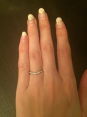 【カルティエ(Cartier)の口コミ】 私はどうしても婚約指輪と重ね付けがしたかったので、重ね付けありきのデザ…