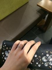 【ティファニー(Tiffany & Co.)の口コミ】 婚約指輪になります。旦那が選んでくれました。もともとアクセサリーなどが…