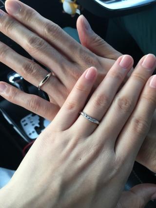 【ROYAL ASSCHER(ロイヤル・アッシャー)の口コミ】 指輪がたくさんあり悩んでいましたが、ロイヤルアッシャーの指輪を見て一目…