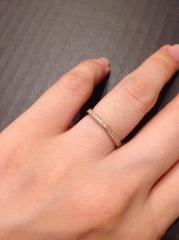 【Love Bond(ラブボンド)の口コミ】 色々な指輪を試着しましたが、結果的には当初希望していたものと違うデザイ…