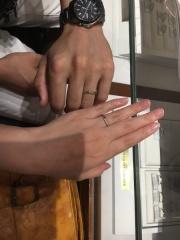 【銀座ダイヤモンドシライシの口コミ】 内甲の指輪なので着け心地が大変良く、付けているのを忘れてしまうくらい…