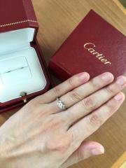 【カルティエ(Cartier)の口コミ】 ダイヤモンドが沢山付いているのはゴテゴテして嫌だけど、シンプル過ぎて…