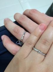 【4℃(ヨンドシー)の口コミ】 ペアリングで付けていた指輪のデザインが気に入ってて、似たようなものに…