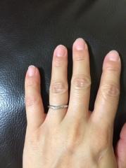 【アイプリモ(I-PRIMO)の口コミ】 主人と2人で決めました。好みがわりと違うのに、この指輪に関しては2人と…