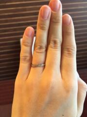 【JEWELRY  KAMATA(ジュエリーかまた)の口コミ】 指輪の名前と自分の名前の漢字が一緒だったのとデザインがイメージしてたも…