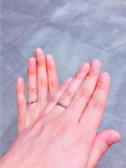 【銀座ダイヤモンドシライシの口コミ】 指輪のはめやすさと、外しやすいのにしっかりフィットするところが気に入り…