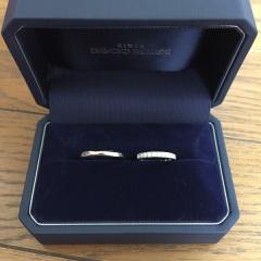 【銀座ダイヤモンドシライシの口コミ】 結婚指輪はハーフエタニティがいいと決めていました。他のブランドで3店舗…