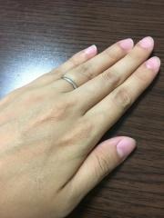 【ティファニー(Tiffany & Co.)の口コミ】 婚約指輪をティファニーで購入したので、結婚指輪もティファニーで揃えよ…