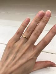 【RITOE(リトエ)の口コミ】 ワックスで形成してから金属を溶かして整形するタイプの手作り指輪。 仕上…