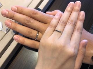 【俄(にわか)の口コミ】 俄の「せせらぎ」の指輪に込められた意味とつけた感じが自然で綺麗なところ…