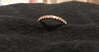 【AFRICA DIAMONDS(アフリカダイヤモンド)の口コミ】 普段から、ずっとつけていたいと思い、ダイヤの部分が出っ張ってないエタ…