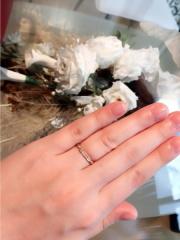 【AFFLUX(アフラックス)の口コミ】 婚約指輪代わりにお揃いの時計をおねだりした為、友人の結婚式でも使える…