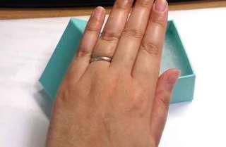 【ティファニー(Tiffany & Co.)の口コミ】 婚約指輪を購入しないので結婚指輪に ダイアモンドがついているものを選び…