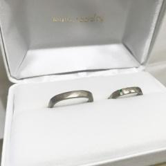 【mina.jewelry(ミナジュエリー)の口コミ】 自分達のオリジナルで周りとかぶらない指輪がよく、また自分達も制作に関わ…