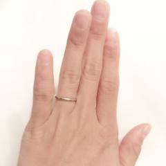 【ティファニー(Tiffany & Co.)の口コミ】 結婚指輪は毎日着ける前提で探していたので、はじめはファッション新婦だ…