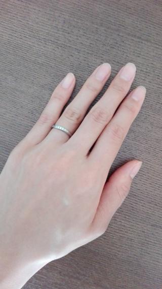 【LUCIE(ルシエ)の口コミ】 細身の指輪を希望していましたが、日常的につけているものなので耐久性を考…