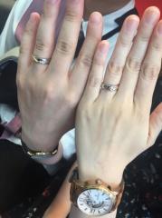 【アトリエミラネーゼの口コミ】 世界でふたつだけの指輪を作りたかったのでお願いしました(^-^) 仕上がり…