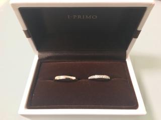【アイプリモ(I-PRIMO)の口コミ】 結婚指輪は絶対にハーフエタニティにする!と決めていました。アイプリモに…