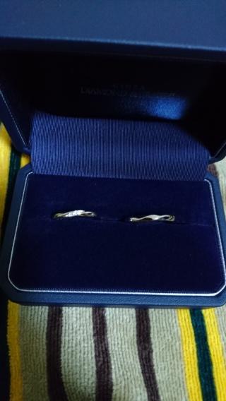 【銀座ダイヤモンドシライシの口コミ】 一応の記念に•••という気持ちで、結婚指…