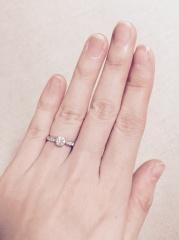 【ティファニー(Tiffany & Co.)の口コミ】 結婚指輪はシンプルなものにすると決めていたので、こちらのデザインにし…