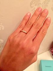 【ティファニー(Tiffany & Co.)の口コミ】 婚約指輪をティファニーで購入していたこともあり、結婚指輪もティファニ…