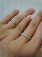 【エクセルコダイヤモンド(EXELCO DIAMOND)の口コミ】 検討していたお店はもう一店舗あったのですが、ダイヤの質が購入店の方がよ…
