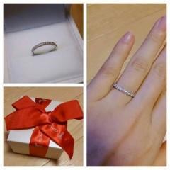 【ギンザタナカブライダル(GINZA TANAKA BRIDAL)の口コミ】 婚約指輪ですが、結婚指輪と重ね付けをしたいと思っていました。 シンプル…