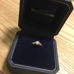 【銀座ダイヤモンドシライシの口コミ】 ダイヤモンドの質の良さが決め手です!カラット数も縁起の良い数字であまり…