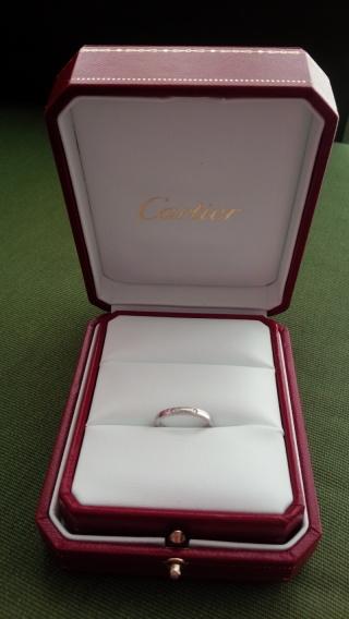 【カルティエ(Cartier)の口コミ】 まず、自分の指に似合うかが一番のポイントでした。また、この指輪は、二種…