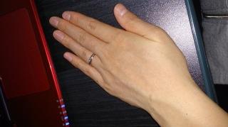 【アイプリモ(I-PRIMO)の口コミ】 手が大きくごつごつしてて男の人みたいな私の手にも合うピンクゴールドの女…