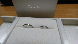 【Only You(オンリーユー)の口コミ】 何度も何度も試着しました。婚約指輪と重ねて着けたかったので、ピッタリ…