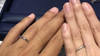 【銀座ダイヤモンドシライシの口コミ】 日本人の指にも合う細めの指輪が多かったのと、付け心地もよかった。デザ…