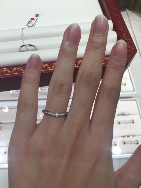 separation shoes ef2fe db767 結婚指輪を頂かなかったのでハーフエタニティで探していた ...