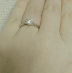 【ケイウノ ブライダル(K.UNO BRIDAL)の口コミ】 私の婚約指輪は、母のダイヤモンドの指輪(元は祖母の指輪)をリメイクし…